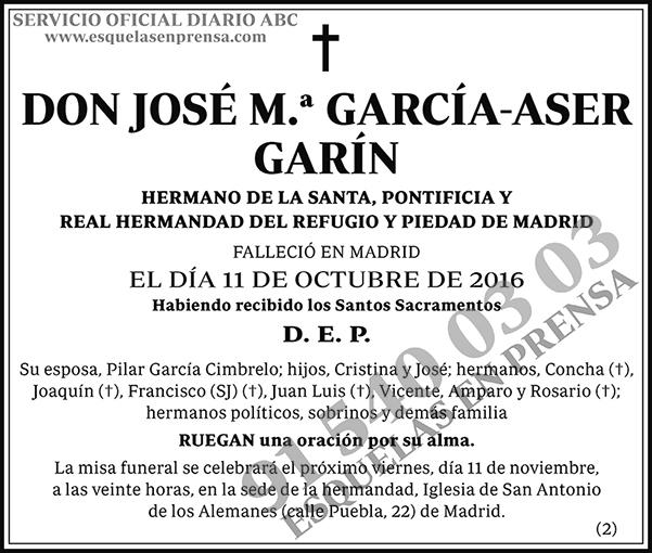 José M.ª García-Aser Garín
